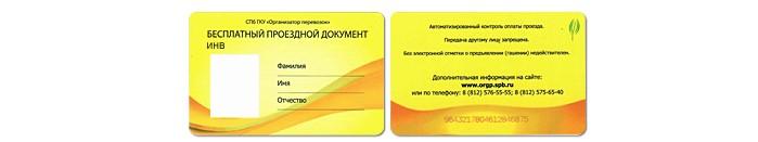 Бесконтактная электронная карточка (БЭПК) инвалида с его фотографией