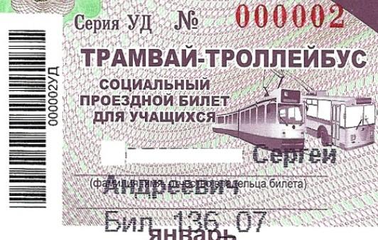 Внешний вид билета