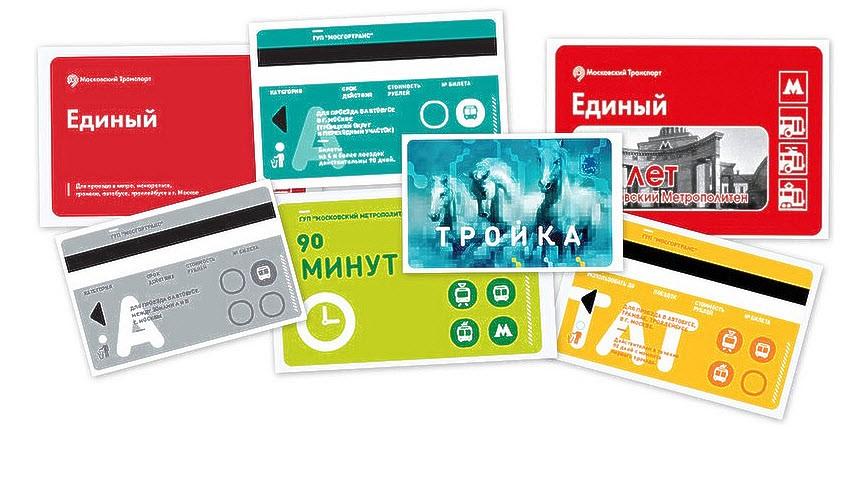 Виды проездных билетов в Москве